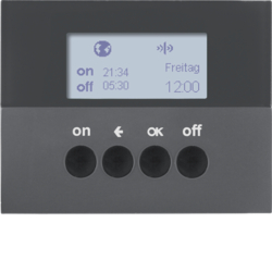 85745275 KNX radio timer quicklink with display,  anthracite matt,  lacquered
