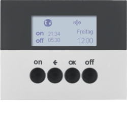 85745277 KNX radio timer quicklink with display,  aluminium,  matt,  lacquered