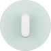10012083 Cover plate with toggle for rotary switch/spring-return push-button Serie R.classic,  glass polar white