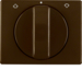 10770001 Centre plate with rotary knob for rotary switch for blinds Berker Arsys,  brown glossy
