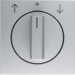 10801404 Centre plate with rotary knob for rotary switch for blinds aluminium,  matt,  lacquered