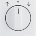 10808989 Centre plate with rotary knob for rotary switch for blinds polar white glossy