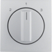 10841404 Centre plate with rotary knob for 3-step switch aluminium,  matt,  lacquered