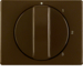 10870001 Centre plate with rotary knob for 3-step switch with neutral-position,  Berker Arsys,  brown glossy