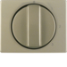 10870101 Centre plate with rotary knob for 3-step switch with neutral-position,  Berker Arsys,  light bronze matt,  aluminium lacquered