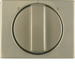 10880101 Centre plate with rotary knob for 3-step switch Berker Arsys,  light bronze matt,  aluminium lacquered