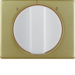 10880102 Centre plate with rotary knob for 3-step switch Berker Arsys,  gold/polar white,  matt/glossy,  aluminium anodised