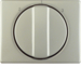 10880104 Centre plate with rotary knob for 3-step switch Berker Arsys,  stainless steel,  metal matt finish