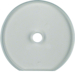 1094 Glass cover end plate for rotary switch/spring-return push-button Serie Glas,  clear glossy