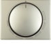 11340024 Centre plate for speed controller with setting knob,  Berker Arsys,  stainless steel,  metal matt finish