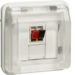 11963522 Loudspeaker connection boxes-insert with hinged cover surface-mounted/flush-mounted with labelling field,  Berker W.1, polar white matt