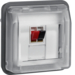 11963525 Loudspeaker connection boxes-insert with hinged cover surface-mounted/flush-mounted with labelling field,  Berker W.1