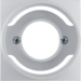 11981404 Centre plate for pilot lamp E14 aluminium,  matt,  lacquered