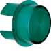 1283 Cover for push-button/pilot lamp E10 green,  transparent