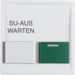 12999909 Centre plate with white + green button Berker S.1/B.3/B.7, polar white matt