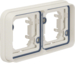 13293502 Frame 2gang horizontal for flush-mounted installation with sealing,  Berker W.1, polar white matt