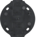 133111 Base plate 1gang,  self-extinguishing Serie 1930, black