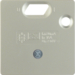 149304 50 x 50 mm centre plate for RCD protection switch System 50 x 50 mm,  stainless steel matt,  lacquered