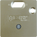 149311 50 x 50 mm centre plate for RCD protection switch System 50 x 50 mm,  light bronze matt,  lacquered