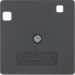 14961606 50 x 50 mm centre plate for RCD protection switch System 50 x 50 mm,  anthracite,  matt
