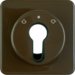 151811 Centre plate for key push-button for blinds/key switch Splash-protected flush-mounted IP44, brown glossy