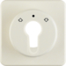 151812 Centre plate for key push-button for blinds/key switch Splash-protected flush-mounted IP44, white glossy