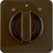152901 Centre plate with rotary knob for rotary switch for blinds Splash-protected flush-mounted IP44, brown glossy