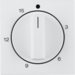 16328989 Centre plate for mechanical timer polar white glossy