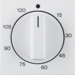 16331909 Centre plate for mechanical timer polar white matt