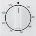 16338989 Centre plate for mechanical timer polar white glossy