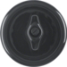 164765 Centre plate with toggle,  porcelain Serie 1930 Porzellan made by Rosenthal,  black glossy