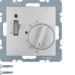 20311404 Temperature controller,  NC contact,  with centre plate,  24 V AC/DC with rocker switch,  aluminium,  matt,  lacquered