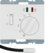 20347109 Thermostat,  NO contact,  with centre plate,  for underfloor heating with rocker switch,  external temperature sensor,  Berker K.1, polar white glossy