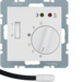 20348989 Thermostat,  NO contact,  with centre plate,  for underfloor heating with rocker switch,  external temperature sensor,  polar white glossy