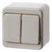 300540 Series switch surface-mounted Surface-mounted,  white glossy