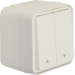 30753522 Blind series switch 1pole with imprinted symbol arrow surface-mounted Berker W.1, polar white matt