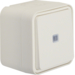 30763522 Illuminated change-over switch surface-mounted with lens,  Berker W.1, polar white matt