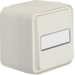 30763552 Change-over switch surface-mounted with labelling field - illuminated,  Berker W.1, polar white matt