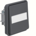 30863535 Change-over switch insert with rocker surface-mounted/flush-mounted with labelling field - illuminated,  Berker W.1, grey matt
