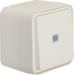 31763502 Control change-over switch surface-mounted with lens,  Berker W.1, polar white matt