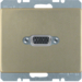 3315419011 VGA socket outlet with screw-in lift terminals,  Berker Arsys,  light bronze matt,  lacquered