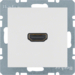 3315421909 High definition socket outlet polar white matt