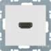 3315428989 High definition socket outlet polar white glossy