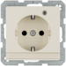 41106082 SCHUKO socket outlet with control LED with labelling field,  enhanced contact protection,  Screw-in lift terminals