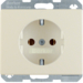 41150002 SCHUKO socket outlet with screw-in lift terminals,  Berker Arsys,  white glossy