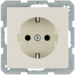 41236082 SCHUKO socket outlet with enhanced touch protection,  with screw-in lift terminals
