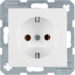 41431909 SCHUKO socket outlet with screw-in lift terminals,  polar white matt