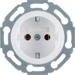 414520 SCHUKO socket outlet Installation position variable in 45° steps,  with screw-in lift terminals,  polar white glossy