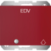"41517115 SCHUKO socket outlet with hinged cover,  control LED and imprint ""EDV"" with hinged cover,  enhanced contact protection,  with screw-in lift terminals,  Berker K.1, red glossy"