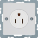 41666089 Socket outlet with earthing contact USA/CANADA NEMA 5-15 R with screw terminals,  polar white velvety